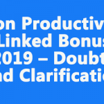 Non Productivity Linked Bonus 2019 – Doubts and Clarification