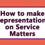 How to make Representations on Service Matters