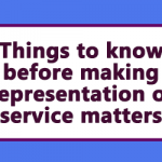 Things to know before making Representation on service matters