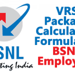 VRS Package Calculation Formula for  BSNL Employees