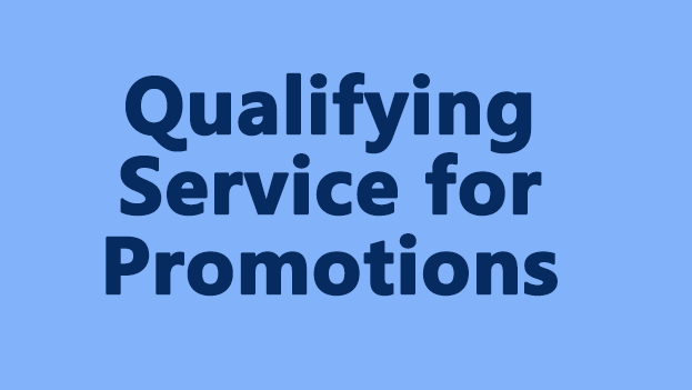 Qualifying Service for Promotions