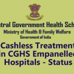 Cashless Treatment in CGHS Empanelled Hospitals
