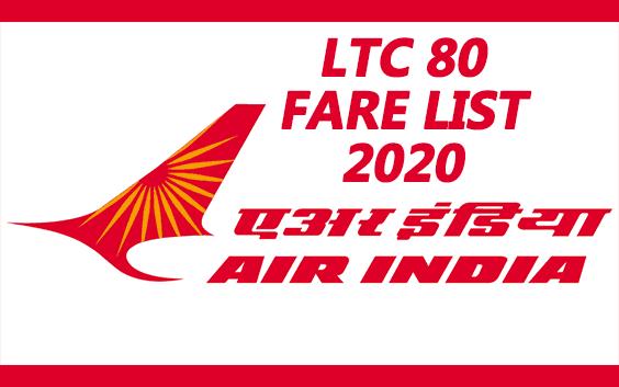 LTC 80 fare list 2020 pdf