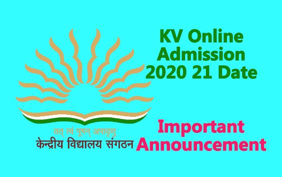 KVS Admission Guidelines 2020 2021