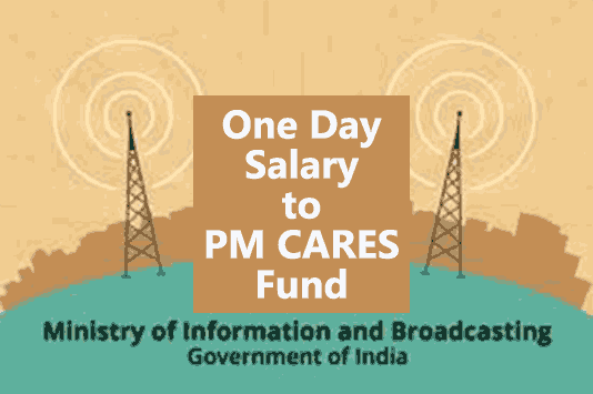 Pledge for donation of one day's salary to PM-CARES Fund