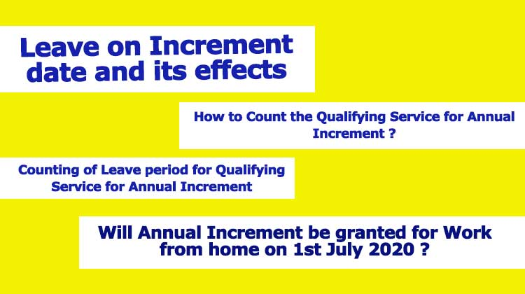 Leave on Increment date and its effects