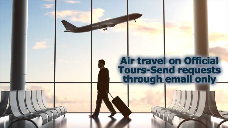 Air travel on Official Tours requests through email only
