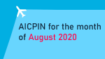 AICPIN for the month of August 2020
