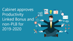 Cabinet approves Productivity Linked Bonus and non-PLB for 2019-2020