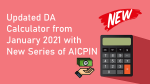 Updated DA Calculator from January 2021 with New Series of AICPIN