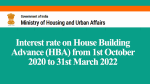 Interest rate on House Building Advance (HBA) from 1st October 2020 to 31st March 2022
