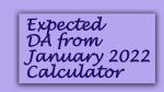 Expected DA from January 2022 Calculator